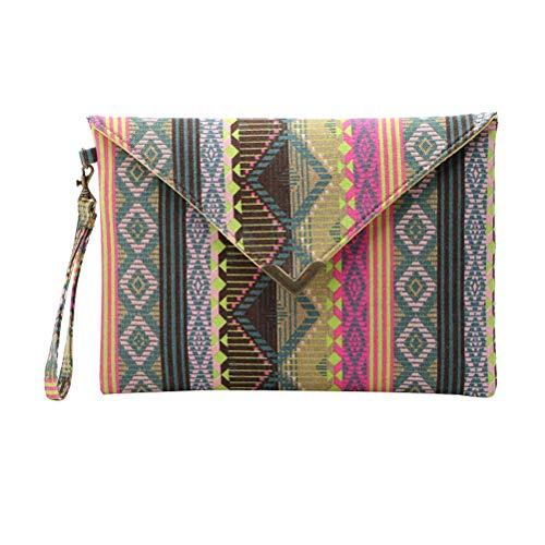 TENDYCOCO Böhmische Baumwolle Hippie Handtasche Thai Top Zip Sling Hobo Bag handgemachte Messenger Geldbörse (schwarz) -