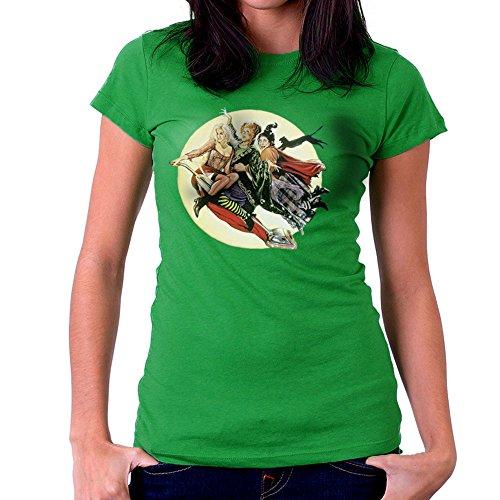 Hocus Pocus Winnifred Sarah Mary Witches Women's T-Shirt (Sarah Grün Halloween)