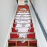 Weihnachten Verkleiden Sich Treppen Langen Bart Weihnachtsmann Treppen Dekorative Wandaufkleber 6 Stück