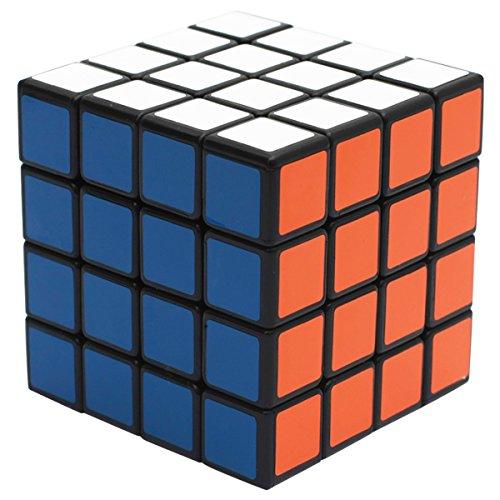 el 4x4x4 Speed Cube, 4X4 Magic Puzzle Cube Zauber Würfel PVC Aufkleber für Kinder und Erwachsene, Schwarz ()