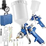 TecTake Gravity Feed Spray Gun Set - different models - (Set 400097)