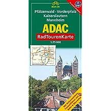 ADAC Radtourenkarte Pfälzerwald, Vorderpfalz, Kaiserslautern, Mannheim: 1:75000