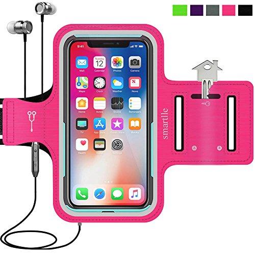 Smartlle Sportarmband für iPhone X XR XS, Samsung Galaxy S9 S8 S7 S6 Edge, LG G6 V30, Google Pixel 2 3, Huawei Mate 10 P20, Running, Workout & Joggen Laufen Armband - Handyhalter Case(Pink) - Für Otterbox-handy-fall 5s