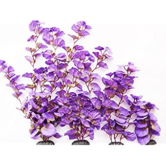 Aquarium Plants (Silk) Purple Lily Fish Tank Decor 51yYQWhNXuL