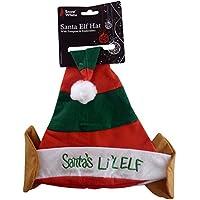 Di Babbo Natale Lil Elf rosso   verde cappello di Natale (PM172) fea5c98b4c7e