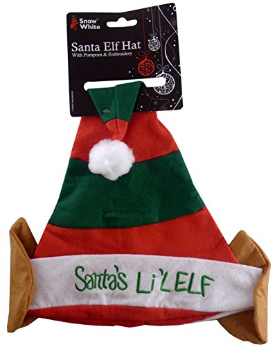 Der Lil Elf Rot/Grüner Weihnachts Hut von Santas (PM172) Santas Lil Elf