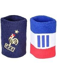 Adidas manchettes de tennis de 2 poignets éponge en tissu éponge pour supporter fFF bleu/blanc/rouge