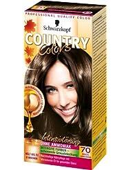 Schwarzkopf Country Colors Intensivtönung, 70 Brazil Dunkelbraun, 3er Pack (3 x 123 ml)
