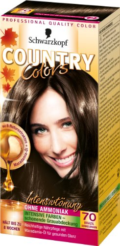 Schwarzkopf Country Colors Intensivtönung, 70 Brazil Dunkelbraun, 3er Pack (3 x 123 ml)