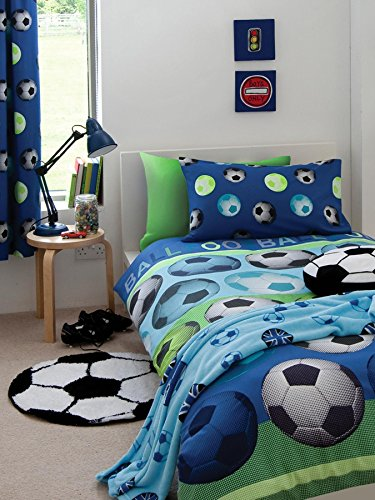 Price comparison product image Catherine Lansfield Football Duvet Cover Set [Bed size - single] [Colour - blue]