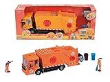 Dickie 203414498 - Camión de la basura de juguete (escala 1:24, aprox. 38 cm), color naranja