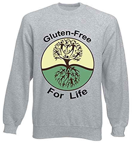 Gluten-free for life graphic tree design Unisex Sweater XX-Large