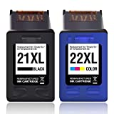MyCartridge kompatibel HP 21XL 22XL Druckerpatronen für HP Deskjet D1560 D2360 D2460 F370 F375 F380 F4180 F2180 F2224 3940 Officejet 4315 5610 5615 Drucker (Schwarz/Farbe)