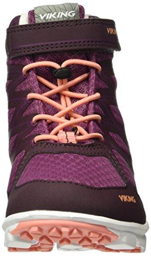 Viking Faun Mid, Baskets Basses Mixte Enfant Violet - Violett (Plum/Aubergine 6283)