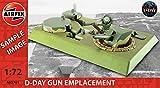 Airfix - Kit de modelismo, diorama D-Day Gun Emplacement, 1:72 (Hornby A05701)