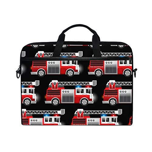 SIONOLY 15-15.4 inch Laptop Tasche,3D Red Fire und Rettungswagen,Neue tragbare Computer Messenger Satchel Aktentasche Arbeit Umhängetaschen 15-15.4