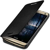Custodia protettiva pratica e chic FLIP COVER per HTC One M7 in Nero firmata kwmobile
