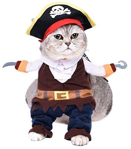 Legendog Hunde Kostüm, Weihnachten Haustier Kostüme Bekleidung Cute Cosplay Hund Katze Verkleiden Kleid Hundekleidung Verkleiden Partei Dressing bis Kleidung Karibische Pirat (Hund Pirat Kostüme)