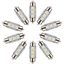 Neuftech 10x 3 SMD C5W LED 36mm Bianco Targa/ interno