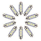 Neuftech 10x 3 SMD C5W LED 36mm Bianco Targa/ interno Luce Festoon Bulb Lampadine Siluro AUTO(non sono canbus luce)