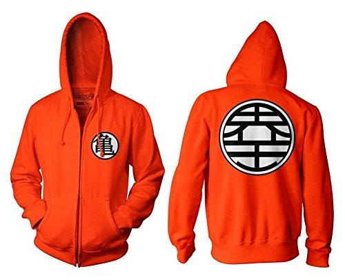 BACKSPORT 1x Junge Herren Verkleidung Kostüm Mantel für Dragonball Z Son Goku Cosplay Hoodie (Large)
