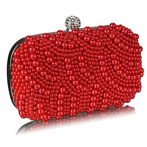 L And S Handbags, Poschette giorno donna Red