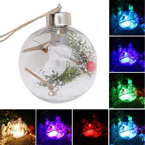 LED Klar Ball Licht Lampe Hängende Ornamente Party Outdoor Decor Durchmesser 8 CM Mit Farbwechsel LED Weihnachtskugel (B(1 Lamp,7 Colors)) ()
