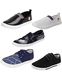 Earton Men Combo Pack of 5 Pair Casual Shoes Loafers with Sneakers