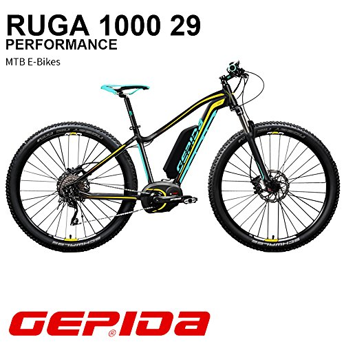 'GEPIDA Mountain Bike eléctrica 29 Ruga 1000 Active 19 Antracita/Amarillo