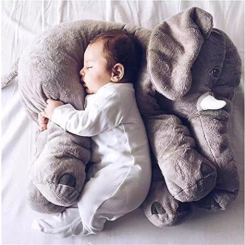 Kenmont elefante Cojín Dormido Animales elefante Almohada de algodón 100% novedad de peluche de juguete blando para decoración, regalos para niños niñito