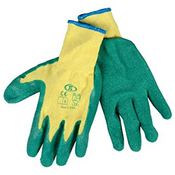12 PAIRS PORTWES LATEX WORK GLOVES A150 S-XXL (Small, orange)