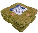 A-Express Armee Grün 200cm x 240cm Warme Weich groß Teddy Fleecedecke Sofadecke Tagesdecke Kuscheldecke Bed Decke