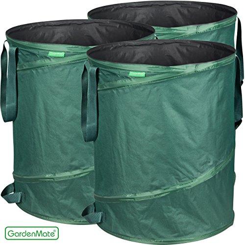 GardenMate® 3x Pop-up Gartensack | Gartenabfallsack | Gartensack | Laubsack