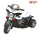 #10: Wembley Original License Quality Battery Operated Pedal Control Tri Cycle Ride-on Bike 15W Motor / 6V Battery with Lights and Music (White Colour)