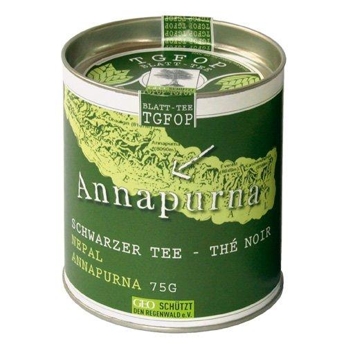 Annapurna TGFOP Schwarzer Blatt-Tee Nepal Dose 75 g