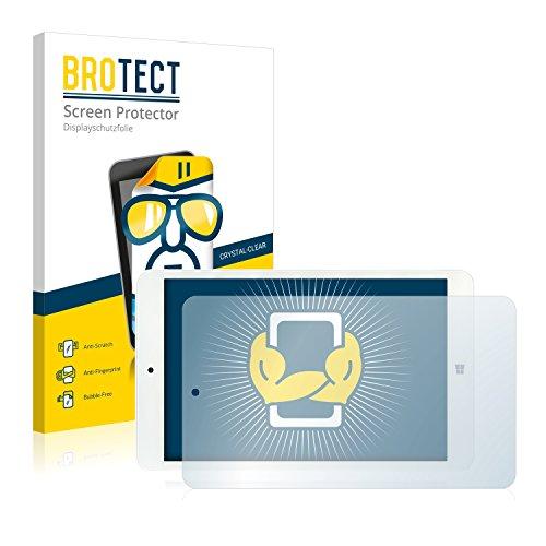 BROTECT Schutzfolie kompatibel mit i.onik TW 8 [2er Pack] klare Bildschirmschutz-Folie