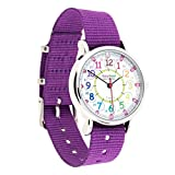 Easyread Time Teacher erw-col-24 Armbanduhr Rainbow 12–24, violett, 1