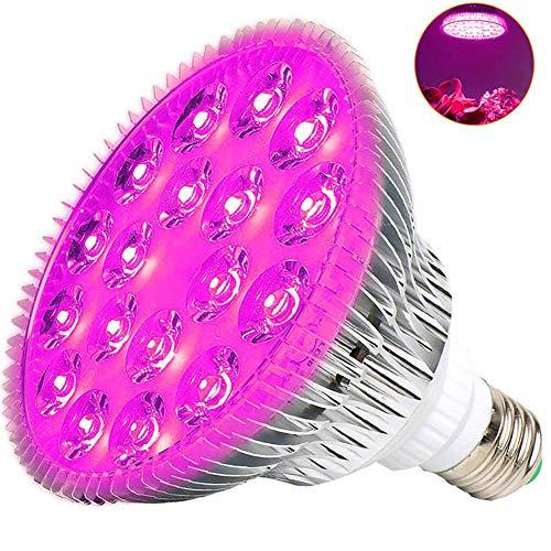DAMAI LED Pflanzenlampe 50W E26/ E27 18 LEDs Vollspektrum Pflanzenlicht Für Zimmerpflanzen, Garten Gewächshaus Blüte, Blumen Und Gemüse