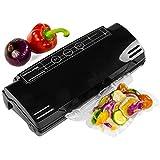 Andrew James High Quality Black Vacuum Food Sealer Bag Packing Machine Includes Vacuum Sealer Bags
