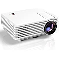 Proyector, Mini Proyector TENKER RD805, Portable Home Cinema HD LED Vídeo Proyector de Películas Soporte 1080P USB VGA HDMI AV, Compatible con TV Smartphones iPhone iPad, Blanco