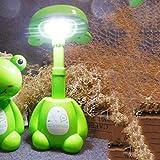 WWF Grand Blanc LED Lampe De Charge Protection des Yeux pour Enfants Apprentissage Lampe Nuit Lumière Créative Pliante Cadeau Lampe De Table,la Grenouille,Taille Unique