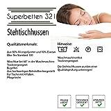 Superbetten-321 Stehtischhussen Tischhusse Tisch Husse Stehtisch Bistrotisch Hussen, Größen, (70x120cm, Creme) - 4