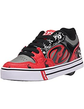 Heelys Motion Plus (770533) - Zapatillas para niños, Color Red/Black/Grey/Skulls, Talla 31