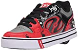HeelysMotion Plus (770533) - Scarpe da Ginnastica Basse Bambino, (Red/Black/Grey/Skulls (Red/Black/Grey/Skulls)), 35