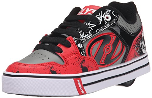 HeelysMotion Plus (770533) - Scarpe da Ginnastica Basse Bambino, (Red/Black/Grey/Skulls (Red/Black/Grey/Skulls)), 36.5
