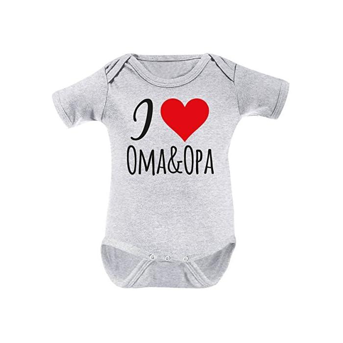Mikalino Babybody I Love Oma & Opa Kurzarm 1