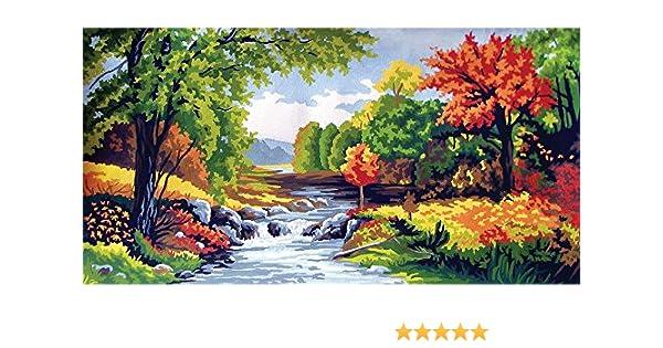 L/'automne Grafitec Printed Tapestry//Needlepoint Kit Autumn Scene