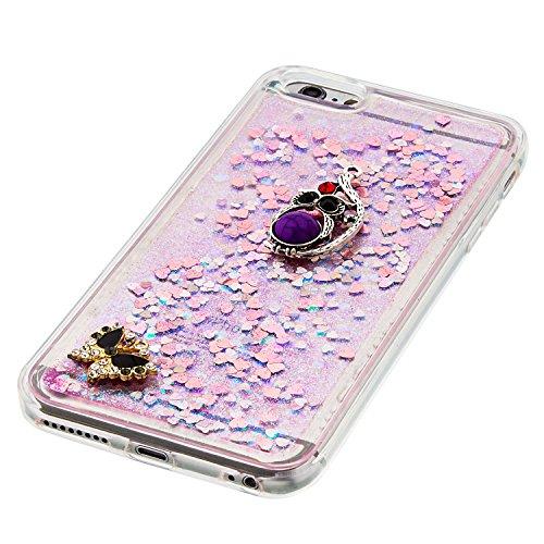 Strass Coque iPhone 6 Plus / 6S Plus Case 3D Liquide Sables Mouvants Design, Sunroyal Bling Glitter Paillettes en Soft TPU Coque pour iPhone 6 Plus / 6S Plus (5,5 pouces) Etui Bumper Dual Layer Plasti A-17