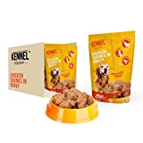 #3: Kennel Kitchen Dog Food for both Adult & Puppy Chicken Chunks in Gravy 100 Grams (10-Pack)