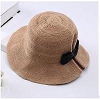 Sombrero De Verano Pescador Sombrero Hembra Ocio Marea Salvaje Visera Sol Sombrero De Playa Grande Sombrero Para El Sol,Brown